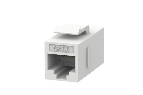 Data Cat6 coupler voor patchkabels wit
